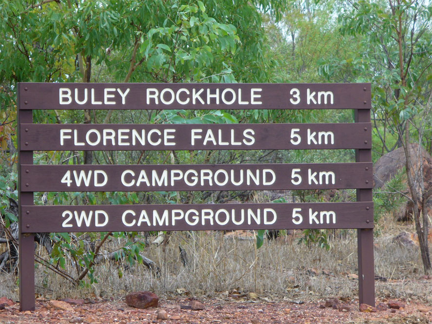 There is plenty of sigange on the way to Buley Rockhole in Litchfield Australia