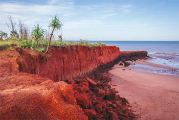 Cobourg Peninsula in Arnhem Land. Cobourg Peninsula shaped like a reverse letter Z lays at the north west extremity of Arnhem Land, Northern Territory, Australia. The peninsula consists of a narrow neck of land extending about 60 miles (100 km) to Cape Don on Dundas Strait